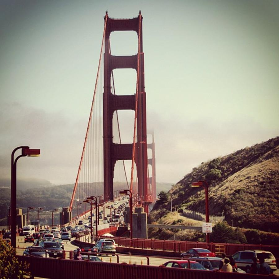 Architecture Photograph - The Golden Gate by Luisa Azzolini