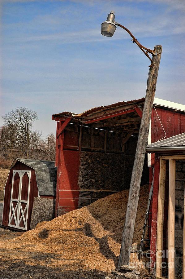 Red Photograph - The Grain Barn by Paul Ward