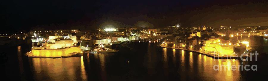 Landscape Digital Art - The Grand Harbour Of Malta by Alfie Borg