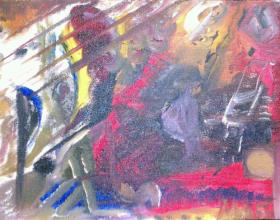 Abstract Painting - The Grand Musician by Mae Hermansen