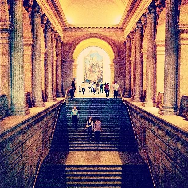 Summer Photograph - The Grand Staircase In The Met. #nyc by Luke Kingma