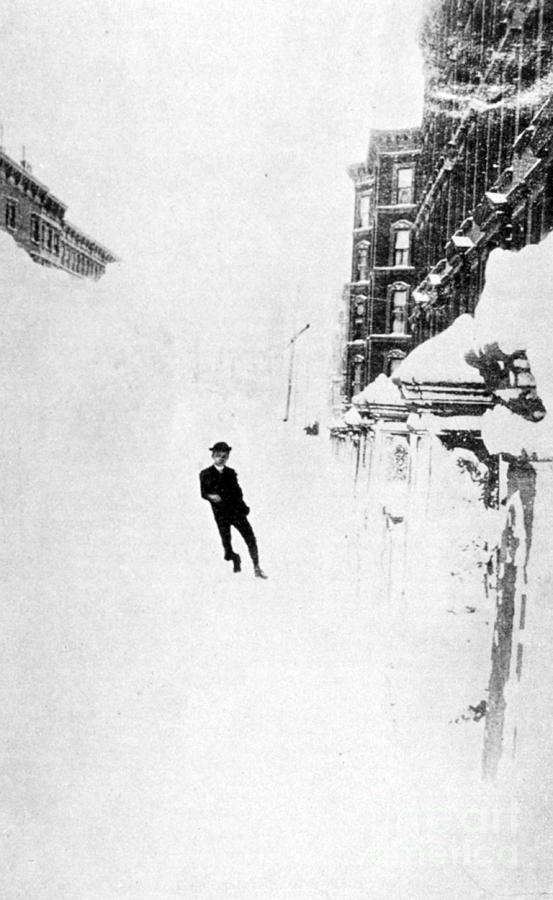 Science Photograph - The Great Blizzard, Nyc, 1888 by Science Source