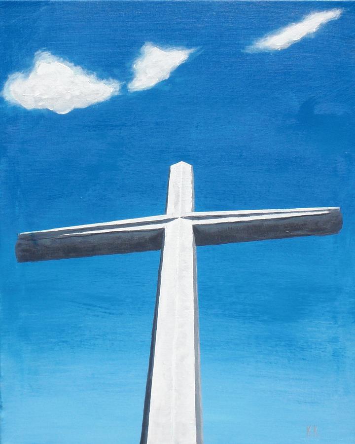 Cross Painting - The Great Cross - Risen by Kelvin Kelley