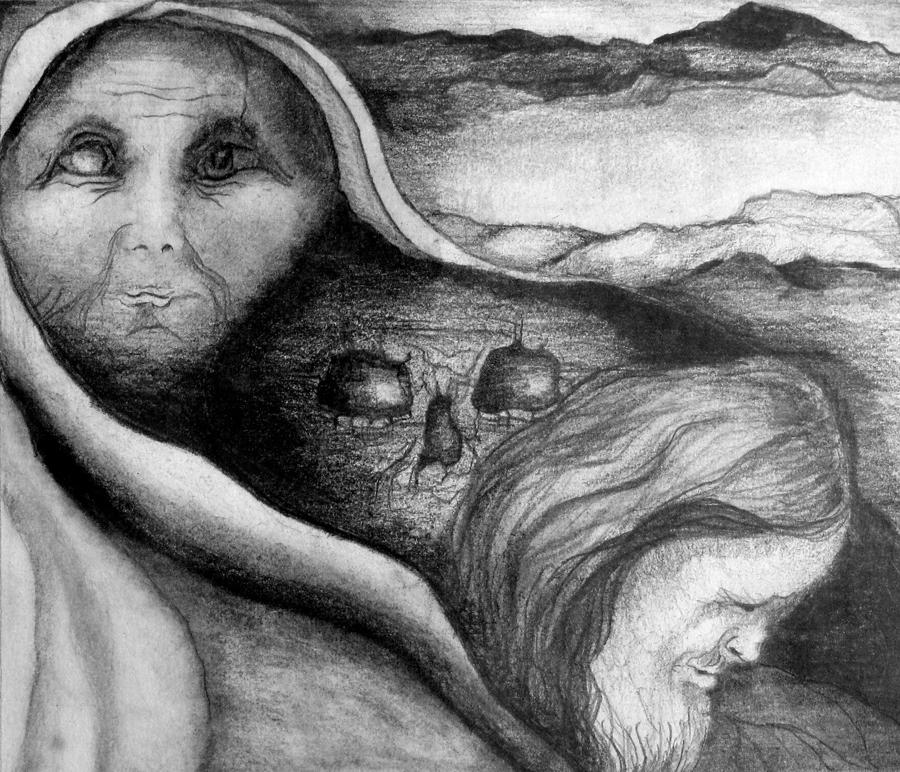 Drawing Drawing - The Great Lie by Rory Sagner