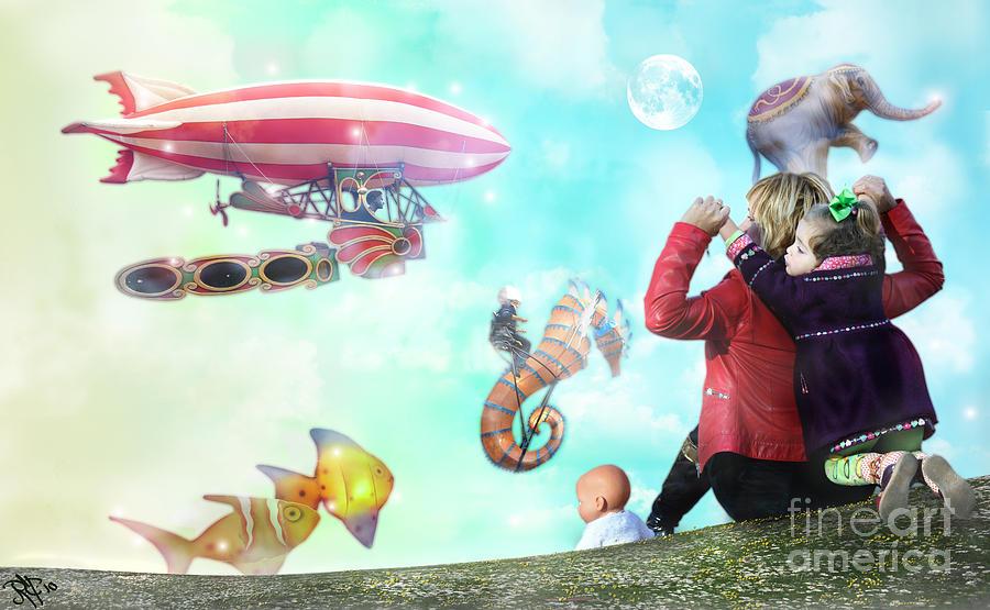Balloons Digital Art - The Great Parade by Rosa Cobos