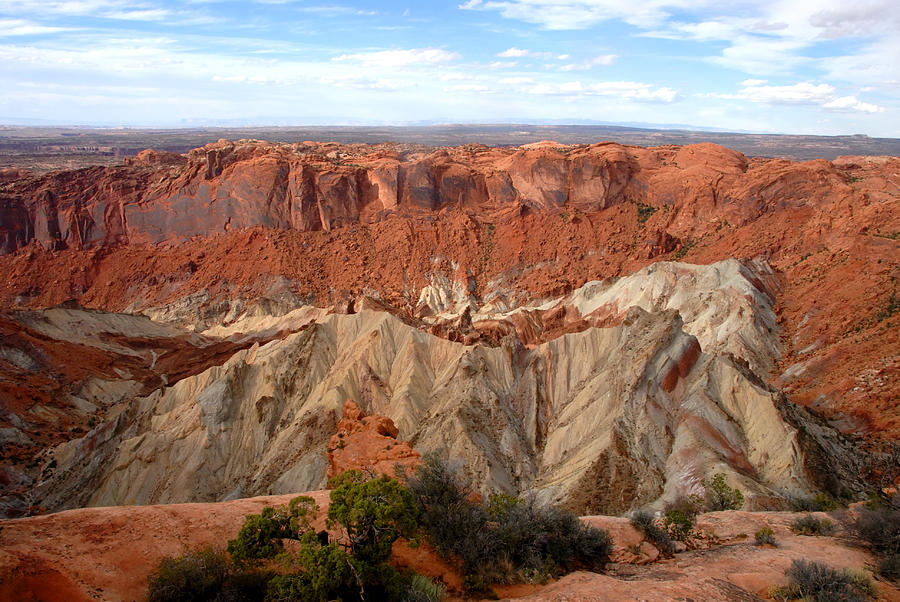 Scenic Photograph - The Great Upheaval Dome by David Lee Thompson
