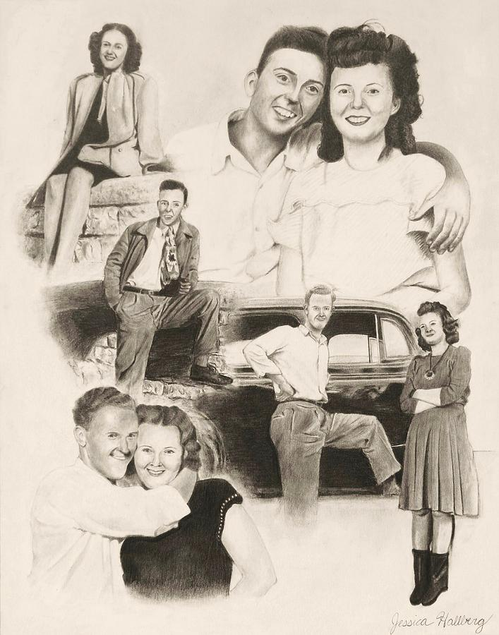 1940s Drawing - The Greatest Generation by Jessica Hallberg