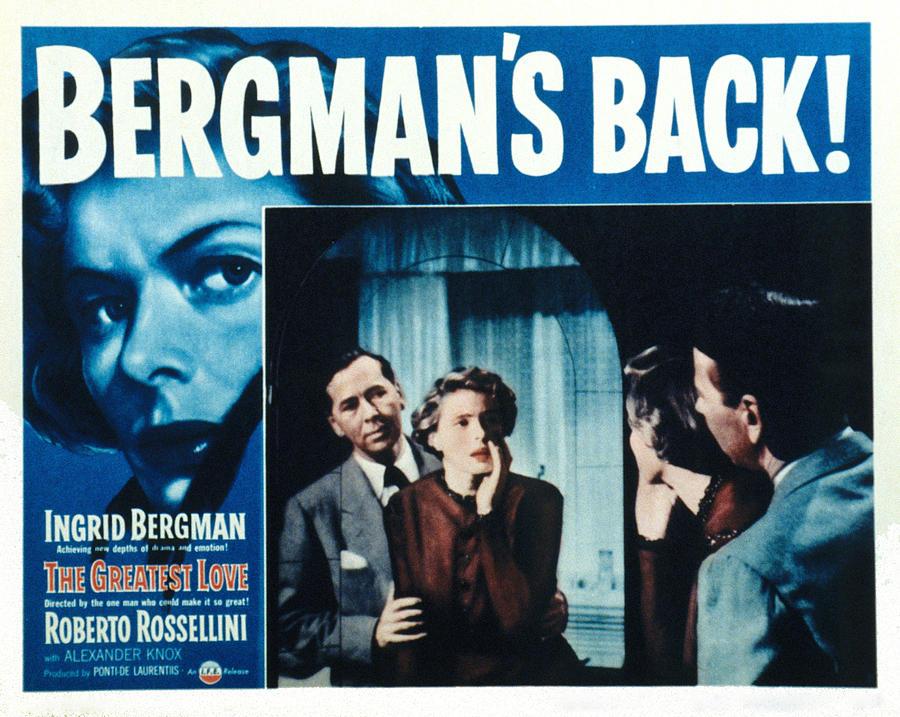 Bergman Photograph - The Greatest Love, Aka Europa 51 by Everett