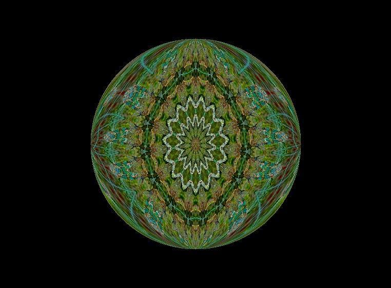 Circle Photograph - The Green Garden by Yvette Pichette