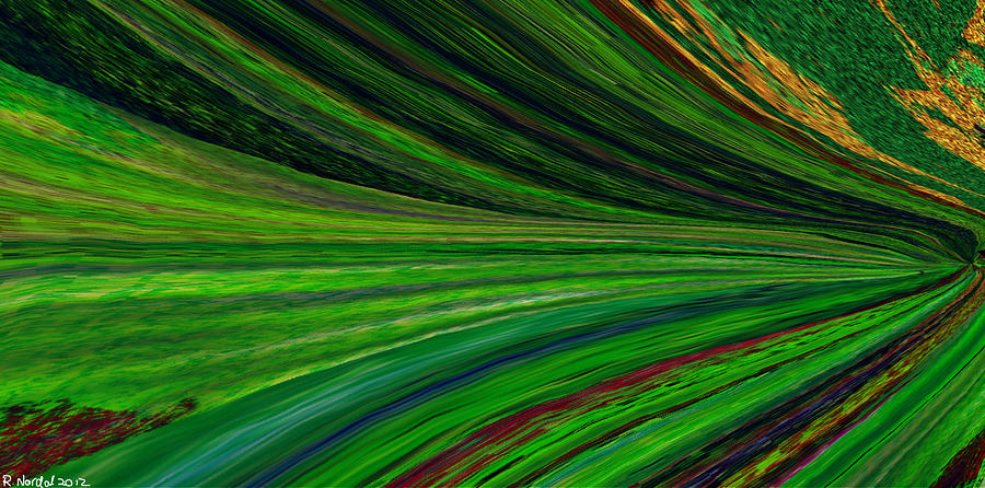 Signed Digital Art - The Green Movement by Rita Nordal