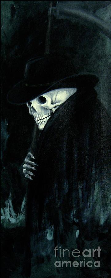Grim Reaper Painting - The Grim Reaper by Barbara Marcus