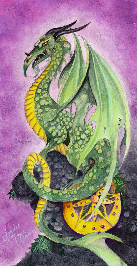 Dragon Painting - The Guardian by Lorelei  Marie