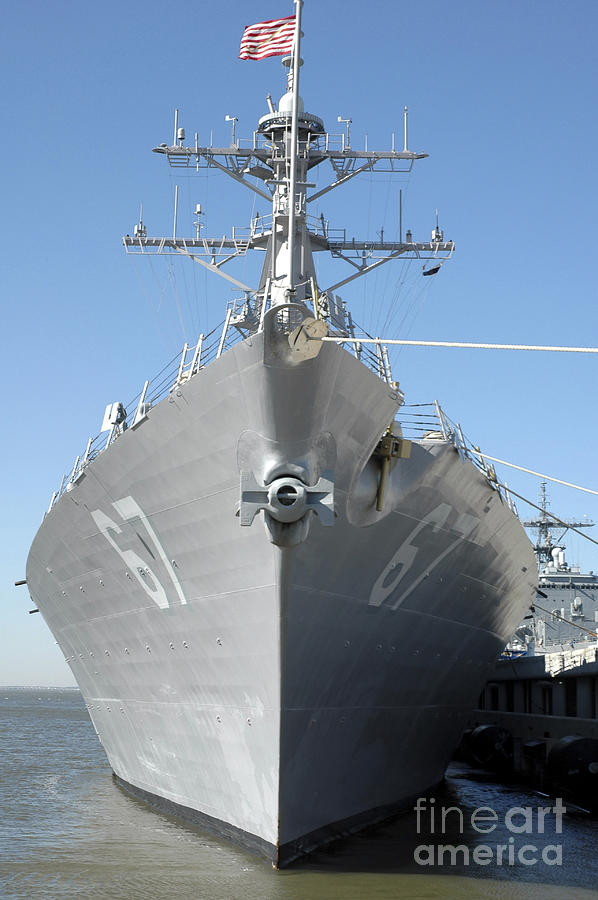 Color Image Photograph - The Guided Missile Destroyer Uss Cole by Stocktrek Images