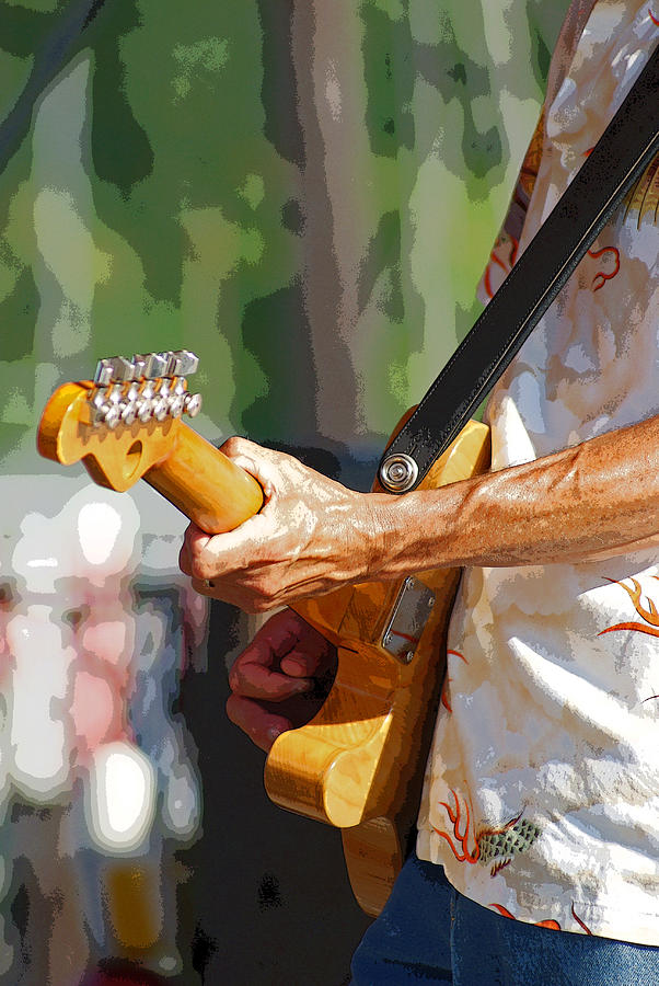 Music Photograph - The Guitar Player by Margie Avellino