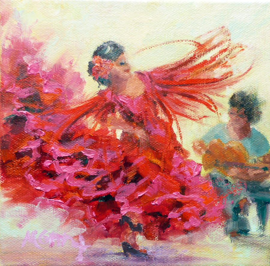 Gypsy Painting - The Gypsy by Marie Green