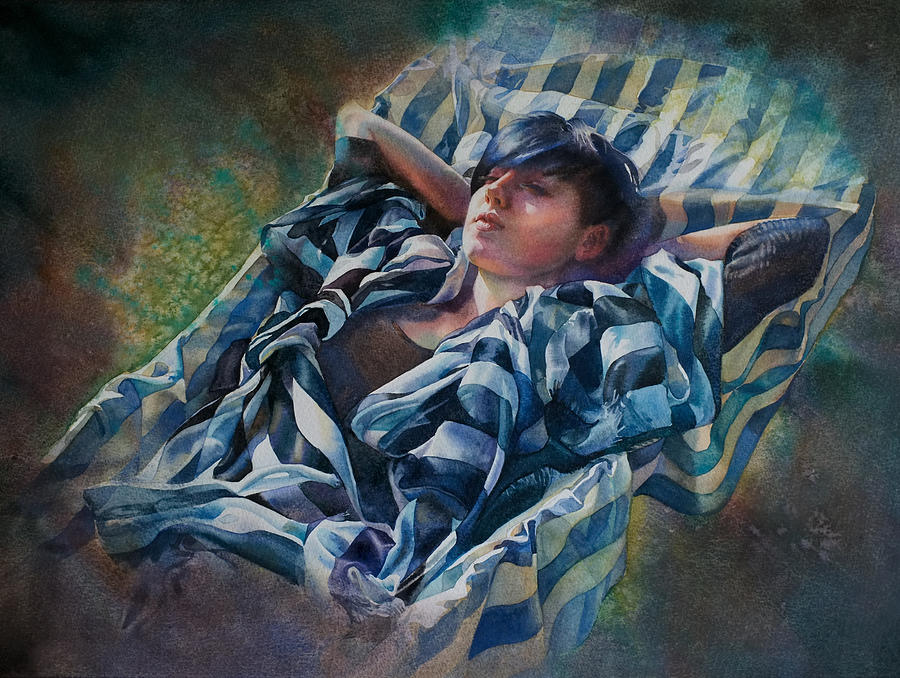 Resting Painting - The Hammock by Gilly Marklew