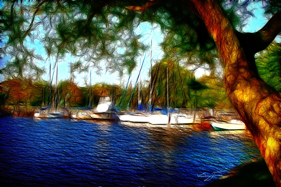 Boats Photograph - The Harbor by Barry Jones