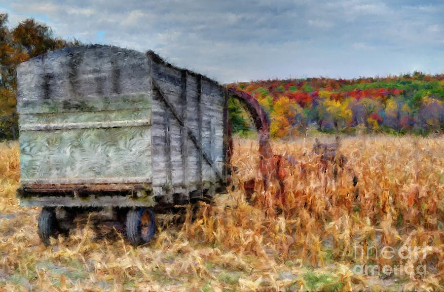 Painting Photograph - The Harvester by Michael Garyet