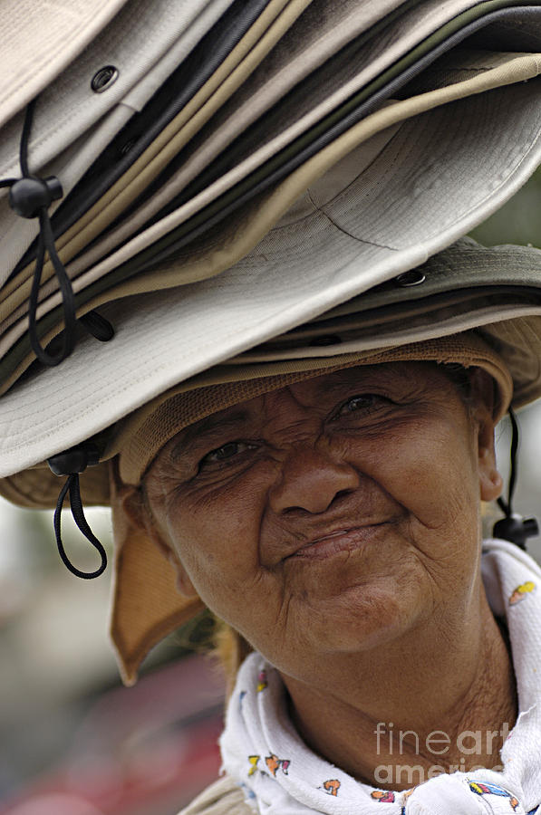 Hats Photograph - The Hat Lady Costa Rica by Bob Christopher
