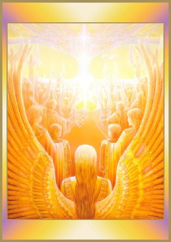 The Heaven Of Angels Painting By Catherine Andrews