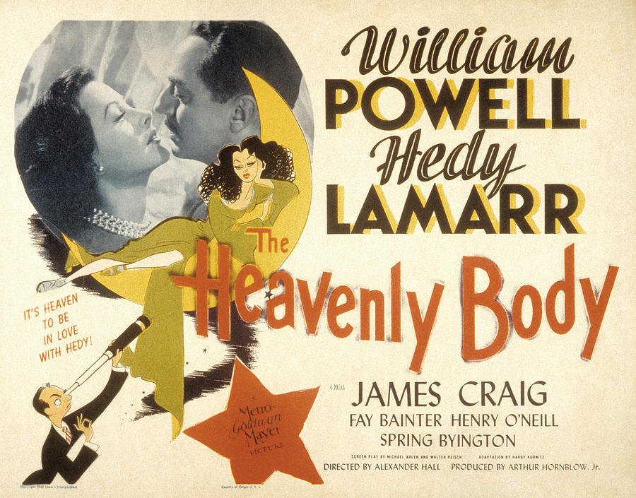 1940s Movies Photograph - The Heavenly Body, Hedy Lamarr, William by Everett