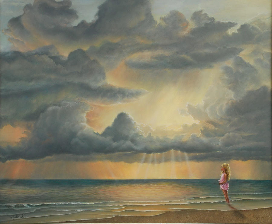 Sky Painting - The Heavens Declare His Glory by Ruth Gee