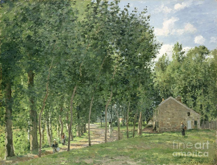 Pissarro Painting - The House In The Forest by Camille Pissarro