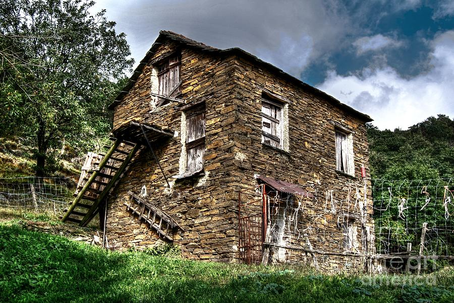 Rock Photograph - The House In The Woods by Elena Mussi