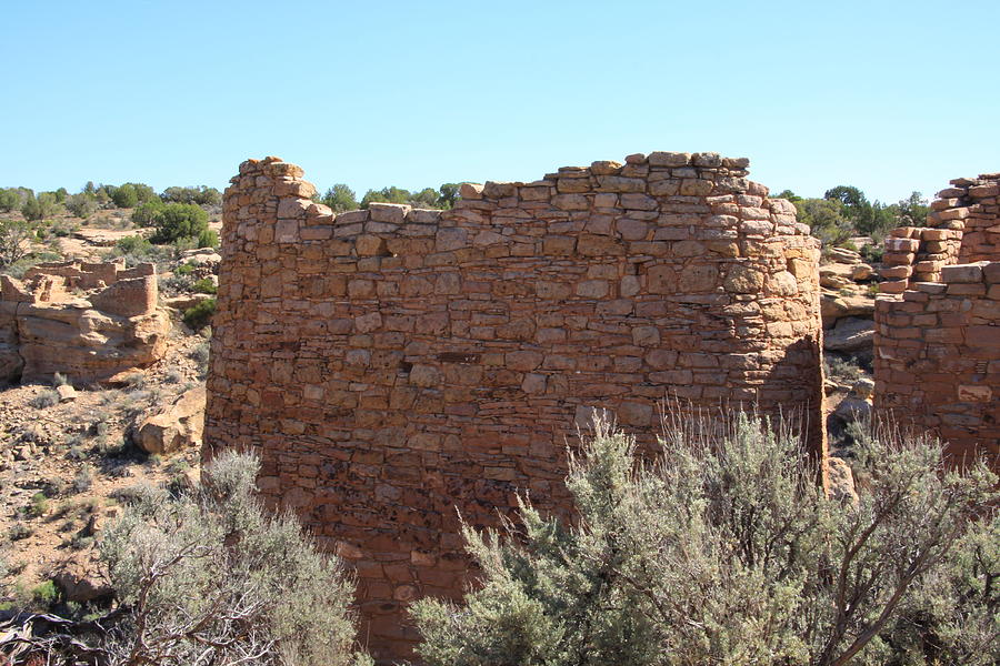 Hovenweep Photograph - The Hovenweep Twin Towers by Cynthia Cox Cottam