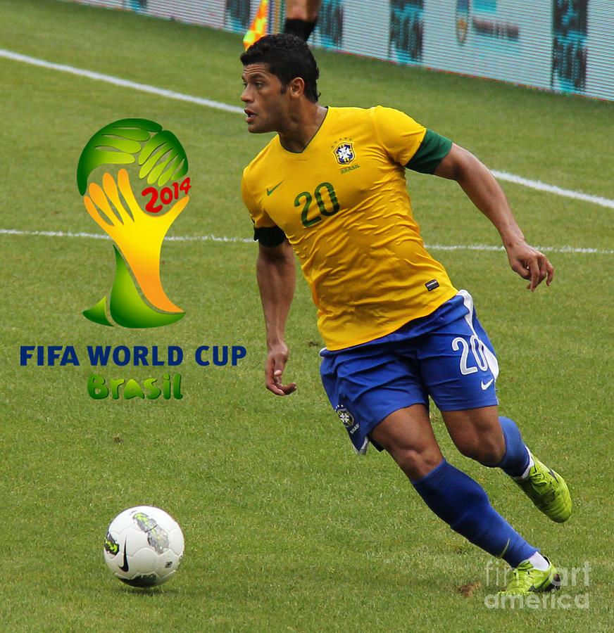 Action Photograph - The Hulk Kicking Fifa 2014 by Lee Dos Santos