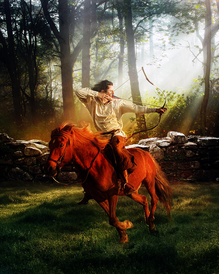 Hunter Digital Art - The Hunter by Karen Koski