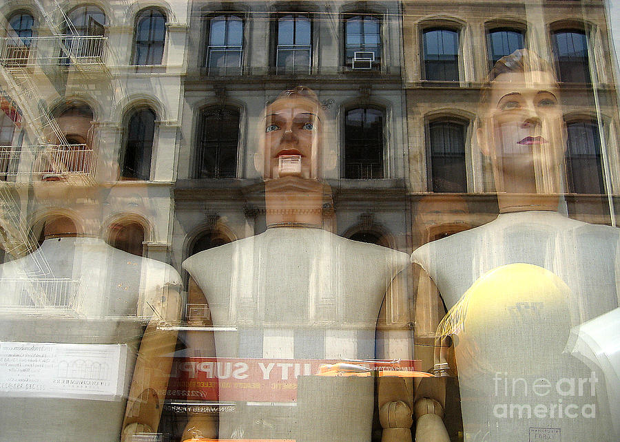 Reflection Photograph - The Impersonal City by Judee Stalmack