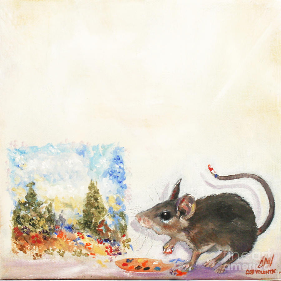 Violano Painting - The Impressionist Mouse by Stella Violano
