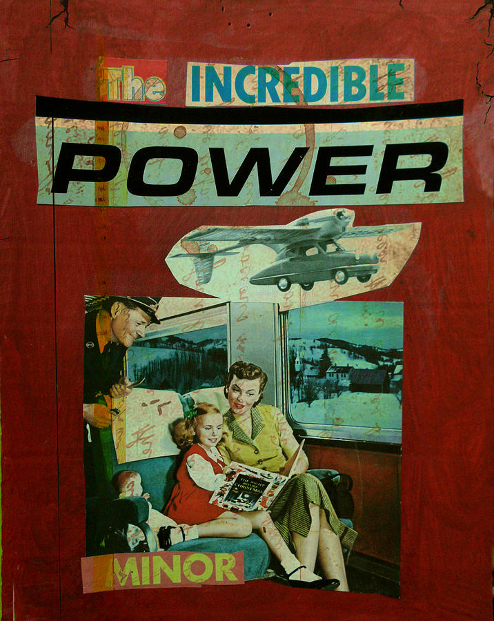 Car Mixed Media - The Incredible Power Minor by Adam Kissel