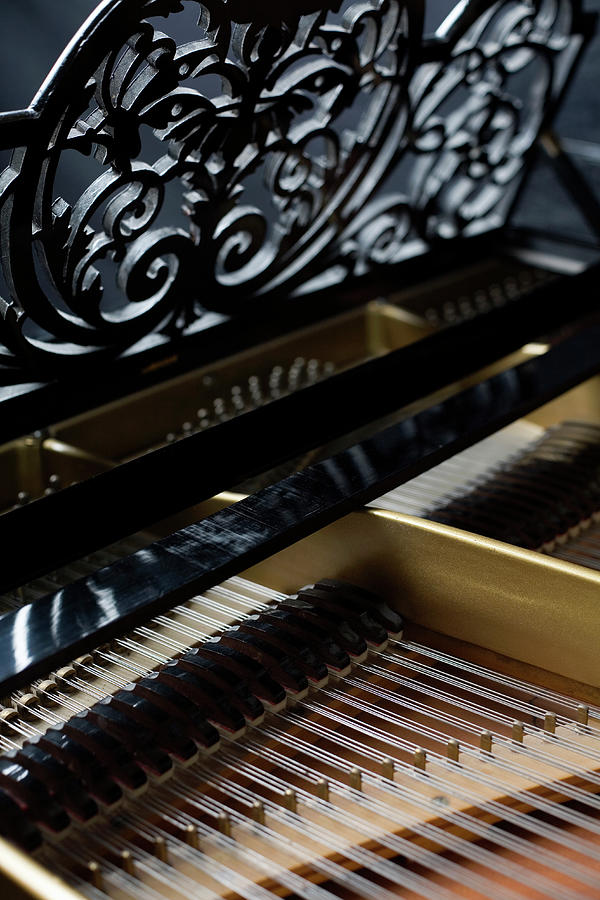 Vertical Photograph - The Inside Of A Piano by Studio Blond