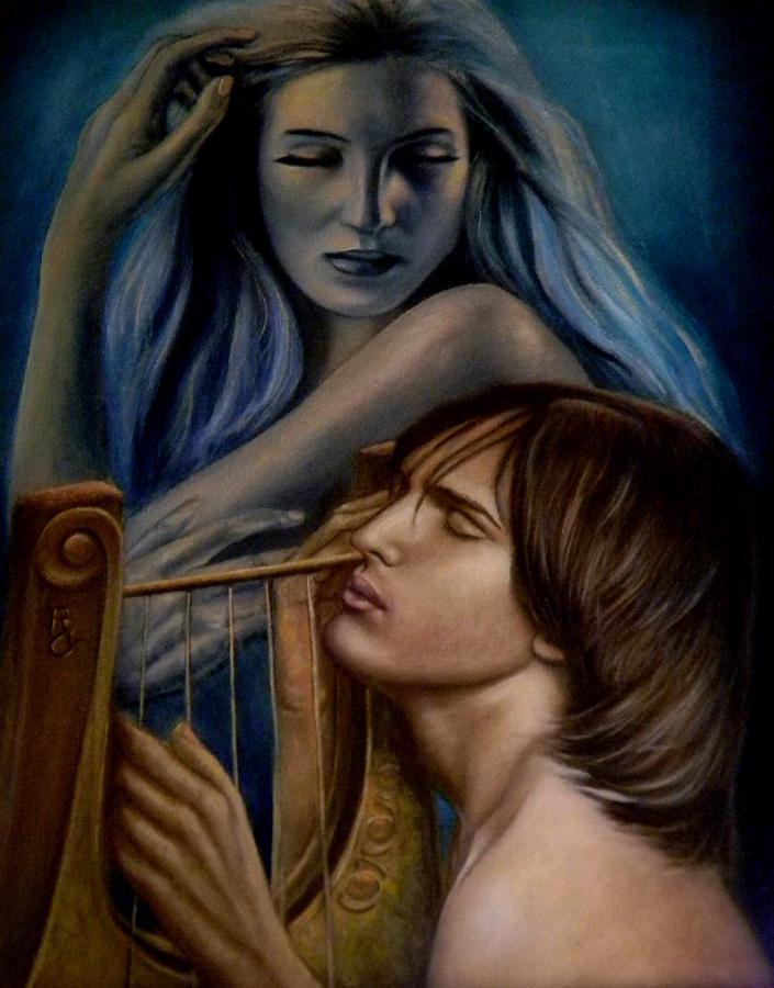 Oil Painting - The Inspiration by Ricardo Giraldez