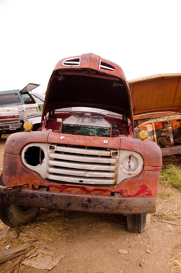 Car Photograph - The Iron Boneyard 6 by Matthew Angelo