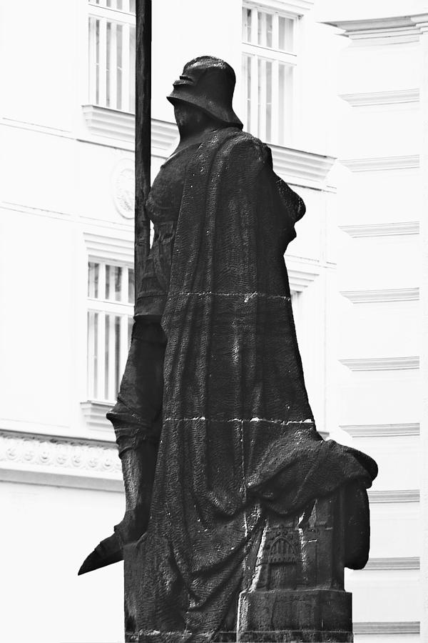 Prague Photograph - The Iron Knight - Darth Vader Watches Over Prague Cz by Christine Till