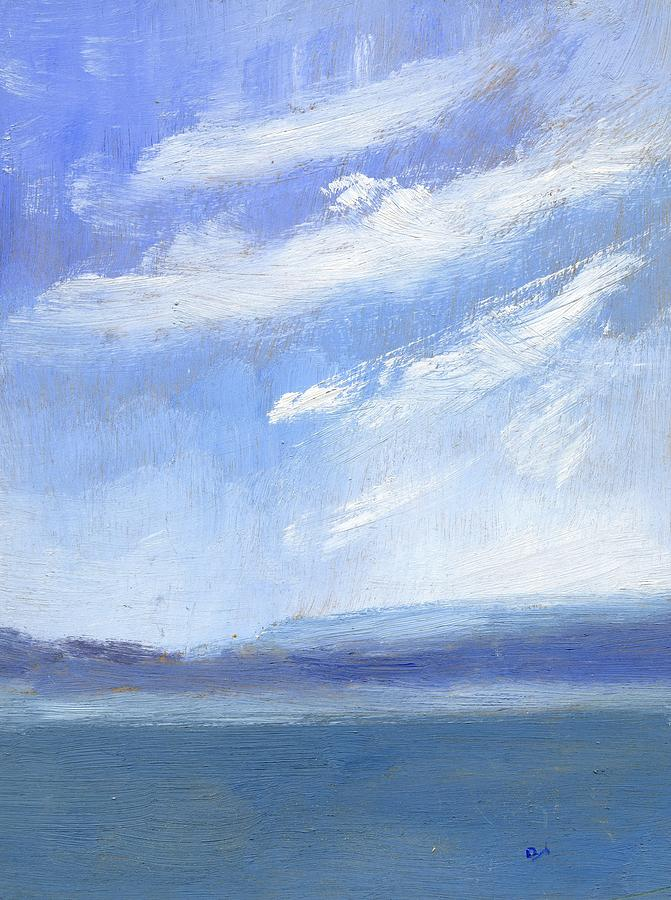 Sea Painting - The Isle Of Wight From Portsmouth Part Three by Alan Daysh