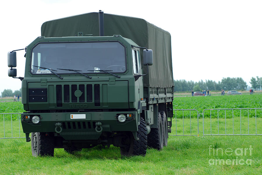 6x6 Photograph - The Iveco M250 8 Ton Truck by Luc De Jaeger