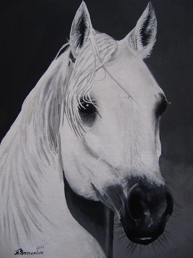 Horse Painting - The Ivory Queen by Kayleigh Semeniuk