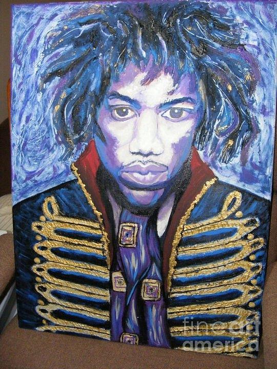 Jimmy Hendrix Mixed Media - The Jacket by Megan Canell  Downing