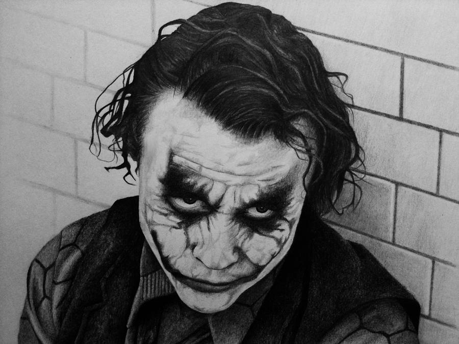 Joker Drawing - The Joker by Carlos Velasquez Art