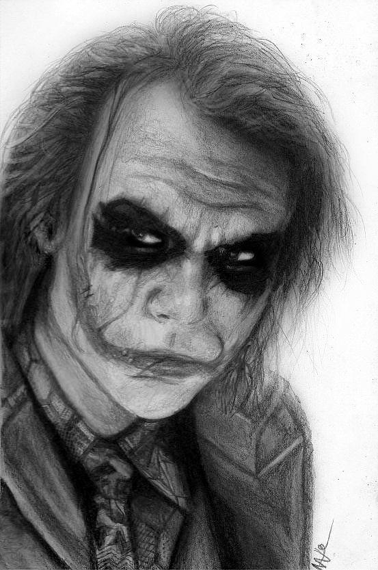 The Joker Drawing - The Joker by Nat Morley