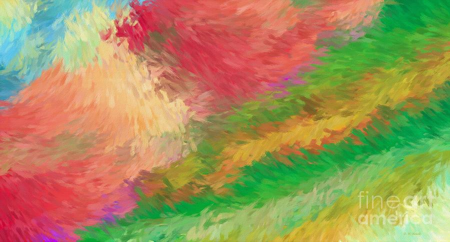 Abstract Digital Art - The Journey by Deborah Benoit