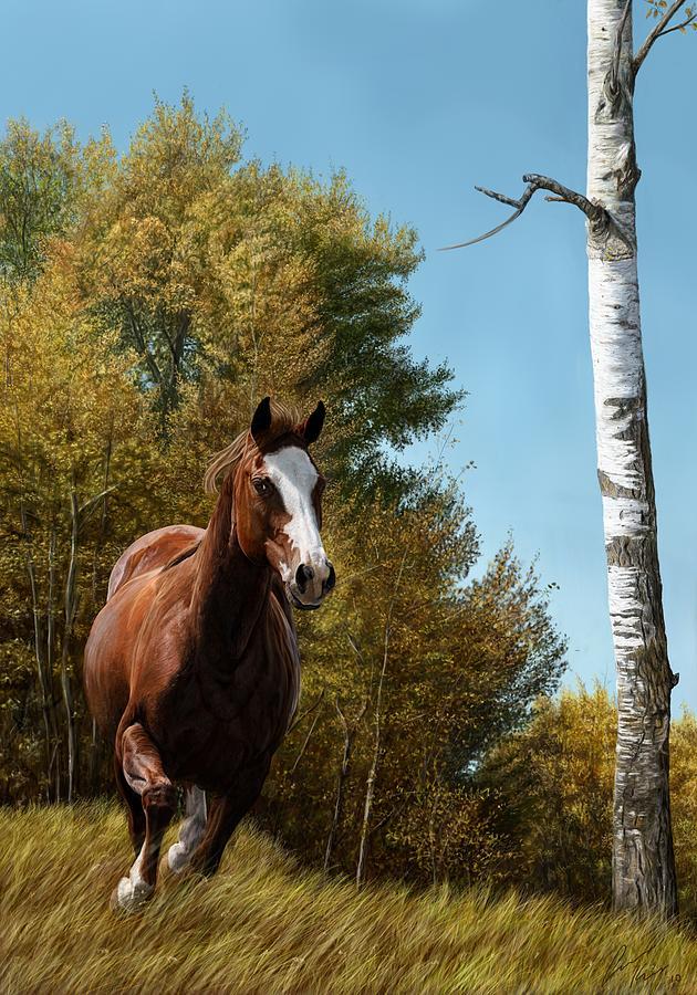 Horse Digital Art - The Journey by Laura Klassen