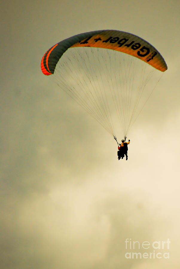 Parachute Photograph - The Jumper by Syed Aqueel