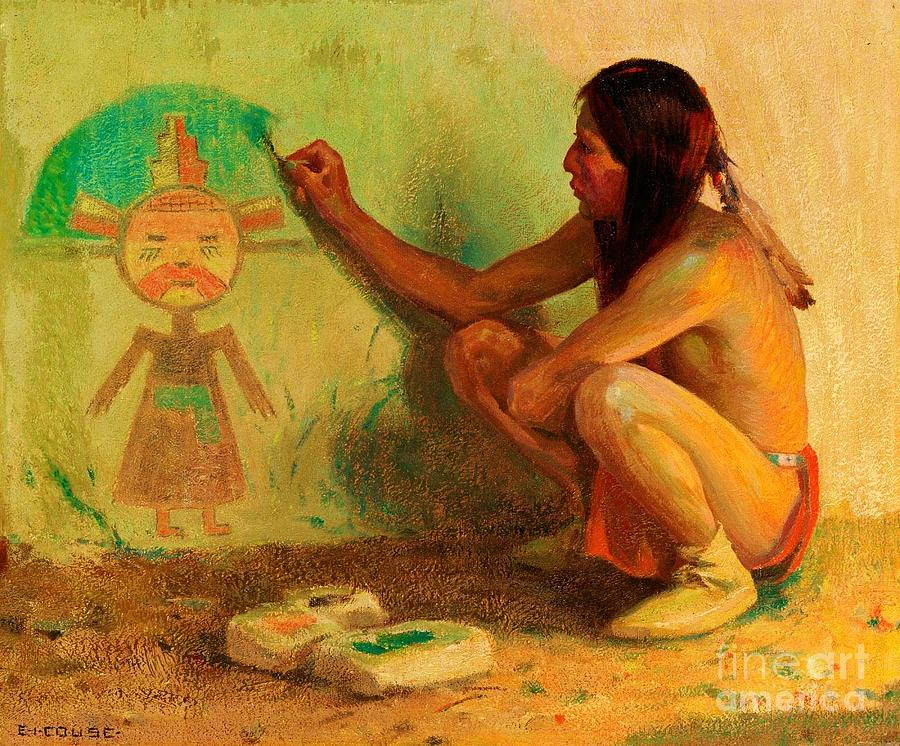 The Kachina Painter Painting by Pg Reproductions