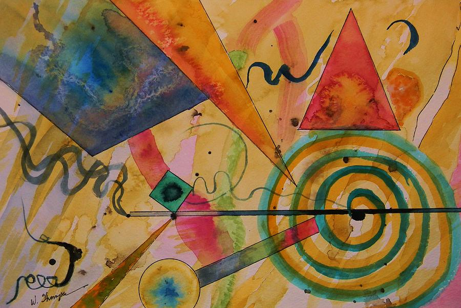 Abstract Painting - The Kandinsky Swirl by Warren Thompson