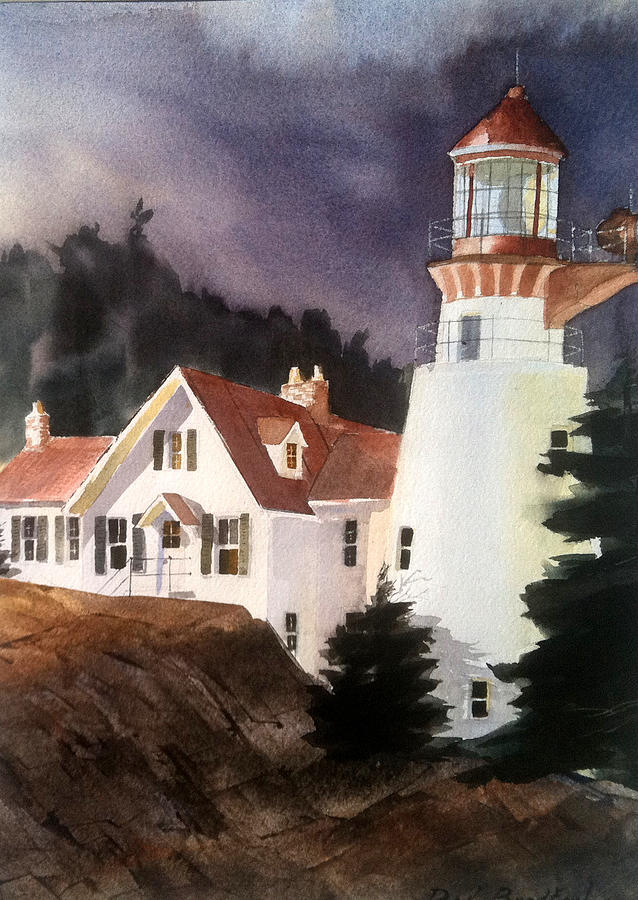 Lighthouse Painting - The Keeper by Don F  Bradford
